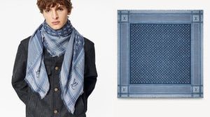 An image of the scarf from Louis Vuitton's website. Louis Vuitton