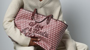Anya Hindmarch's I Am a Plastic Bag collection is made from recycled materials. Anya Hindmarch.