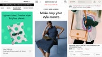 Mobile apps for ThredUp, MyTheresa and Poshmark, from left.