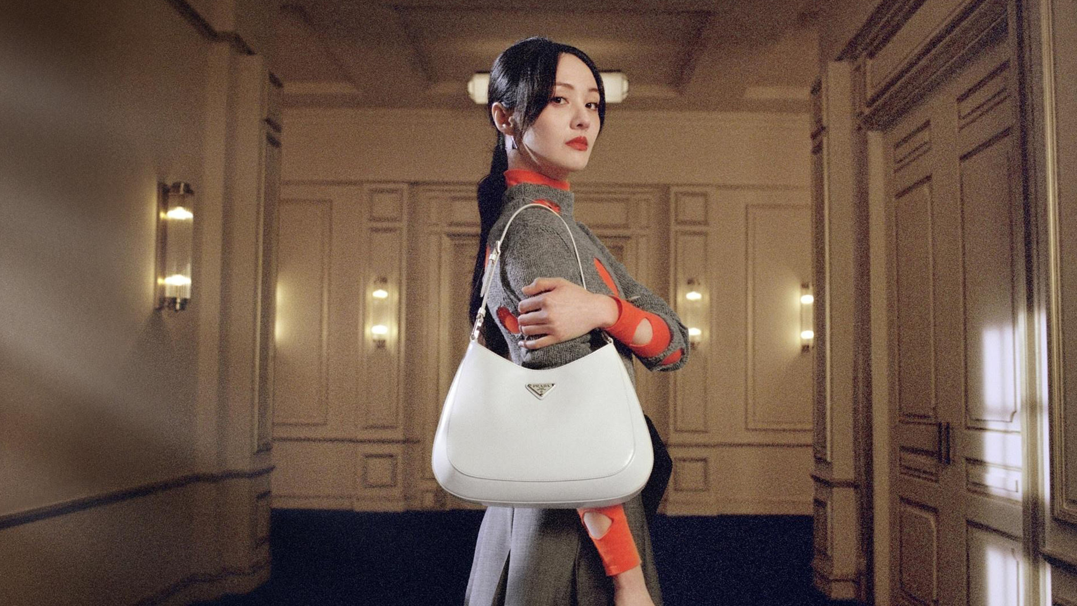 Actress Zheng Shuang in Prada's latest Chinese New Year campaign. Prada.