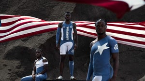 After outfitting the Liberian team for the Olympic Games in Tokyo, Designer Telfar Clemens has debuted a performance line. Courtesy.