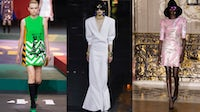 Spring/Summer 2022 looks from Christian Dior, Saint Laurent and Koché. Courtesy.