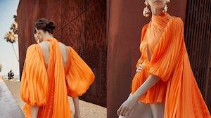 Lookbook images from Iraqi designer Harith Hashim, an eveningwear finalist for the FTA 2021 Awards. FTA