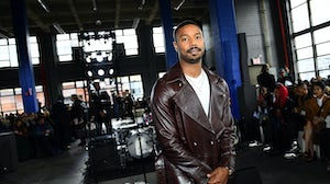 Michael B. Jordan attends the Coach 1941 fashion show during February 2020 - New York Fashion Week. Getty Images.