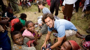Blake Mycoskie, founder of Toms, in Ethiopia. Courtesy.