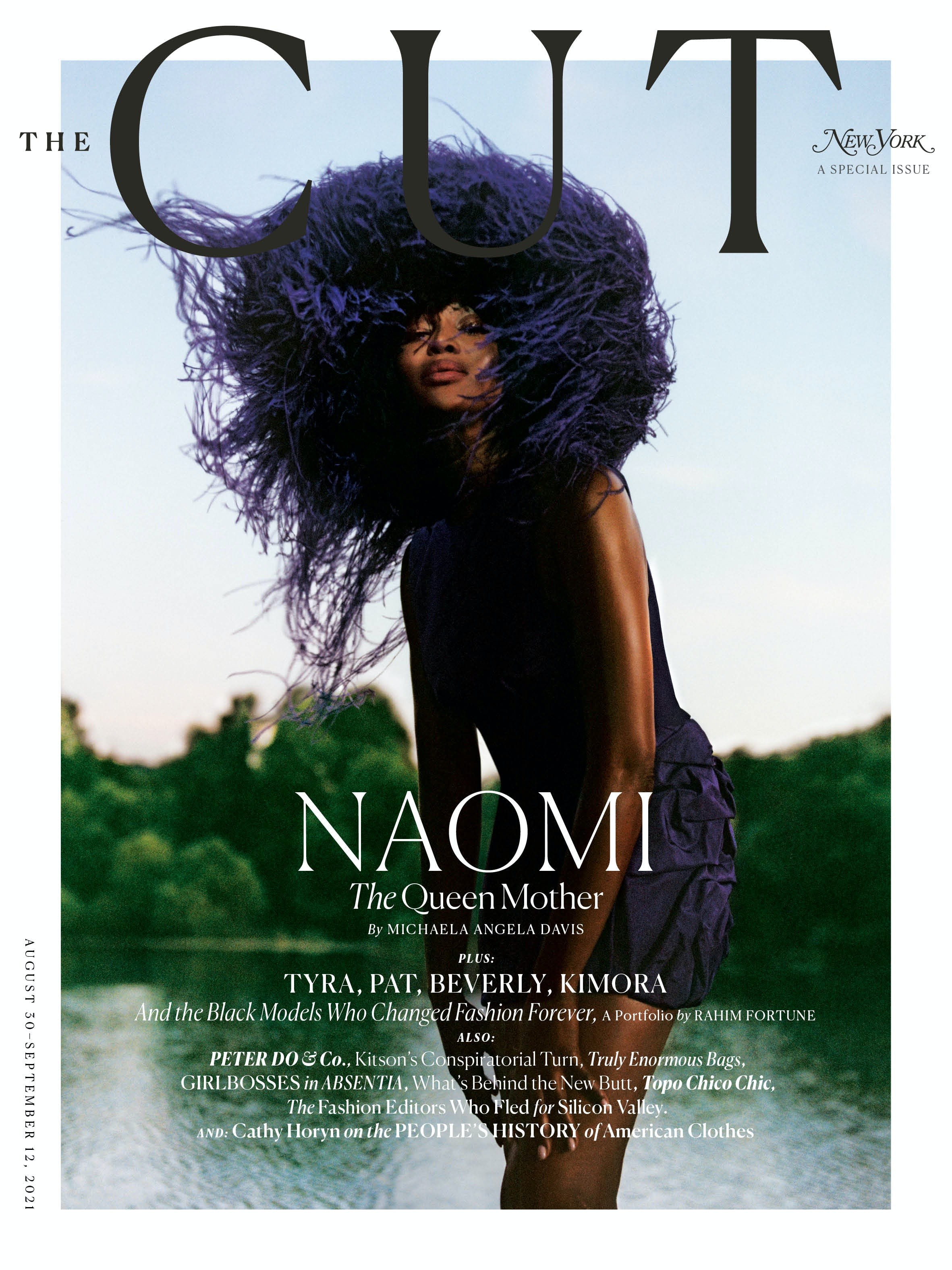 Naomi Campbell photographed by Campbell Addy for The Cut\'s fall fashion issue. Courtesy