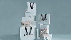 Lanvin shopping bags. Lanvin
