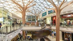 Inside Africa's biggest mall, The Mall of Africa, in Johannesburg. Shutterstock.
