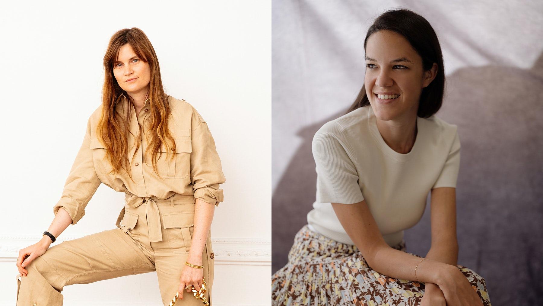 Eugénie Trochu, Vogue Paris\' new head of editorial content (left). Adeline Mai. Francesca Ragazzi, Vogue Italia head of editorial content (right). Courtesy.
