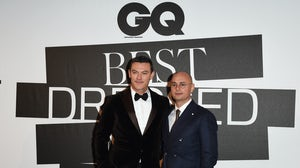 Former GQ Italia editor Giovanni Audiffredi with actor Luke Evans at a GQ event in 2019. Stefania M. D'Alessandro/Getty Images
