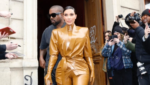 Kim Kardashian and Kanye West in Paris   Source: Getty Images