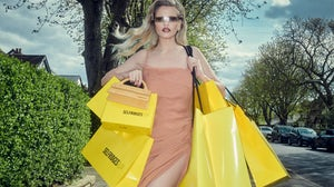 The Selfridges Rental campaign featuring Lara Stone. Selfridges.