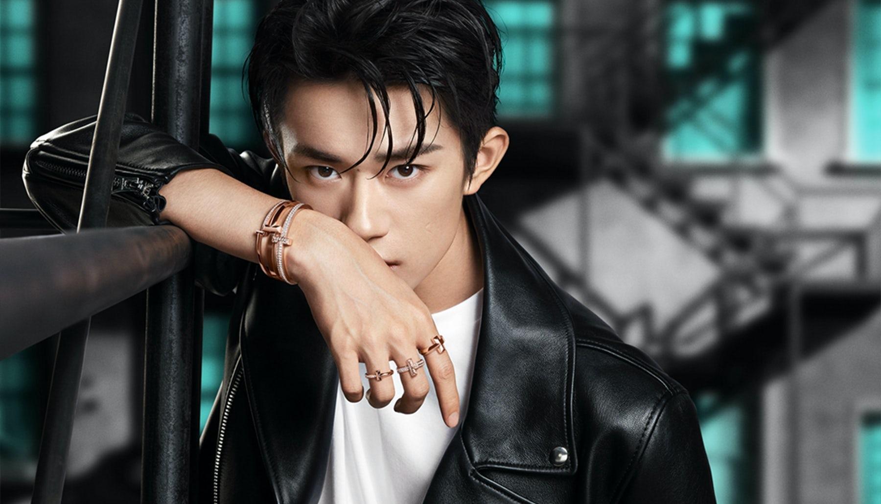 Jackson Yee (aka Yi Yangqianxi) in a Tiffany T campaign. Tiffany & Co.