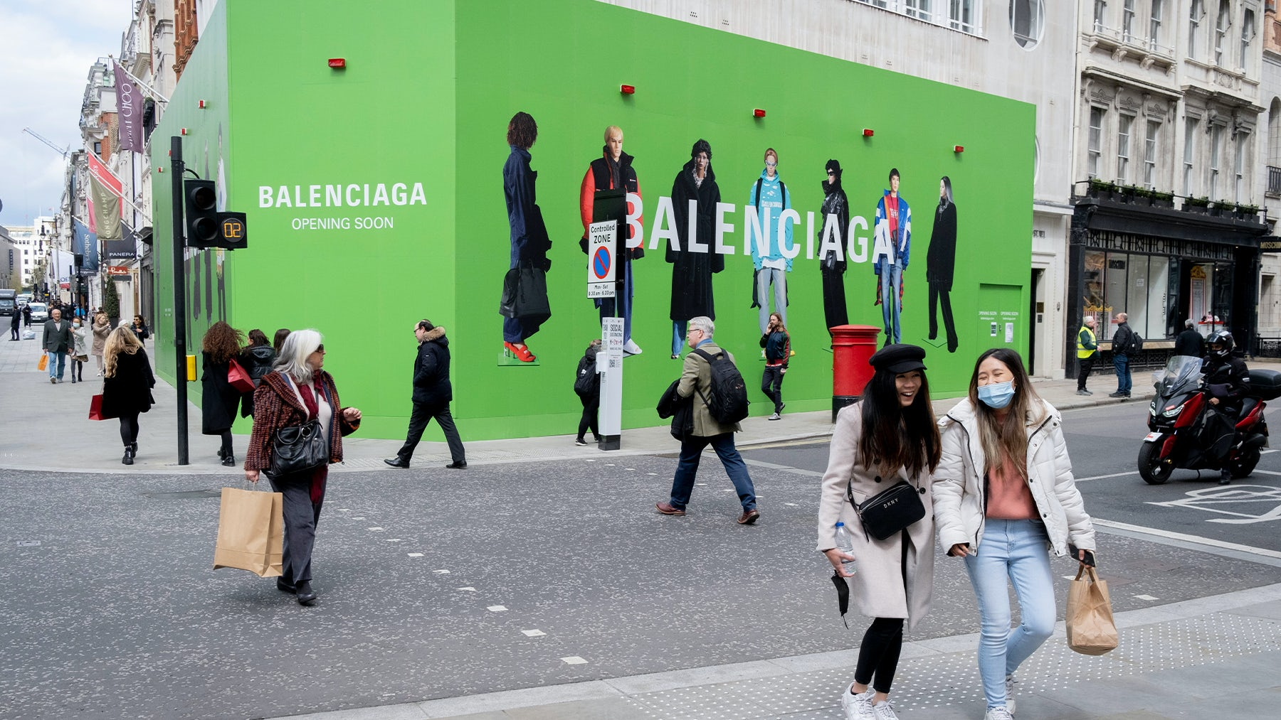 Balenciaga\'s new store location on Bond Street in London. Getty Images.