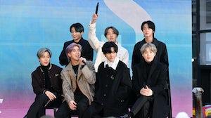 "Jimin, Jungkook, RM, J-Hope, V, Jin, and SUGA of BTS visit the ""Today"" Show at Rockefeller Plaza. Getty Images."