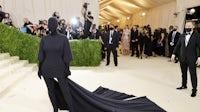Kim Kardashian at the 2021 Met Gala, wearing custom Balenciaga Couture. Courtesy.