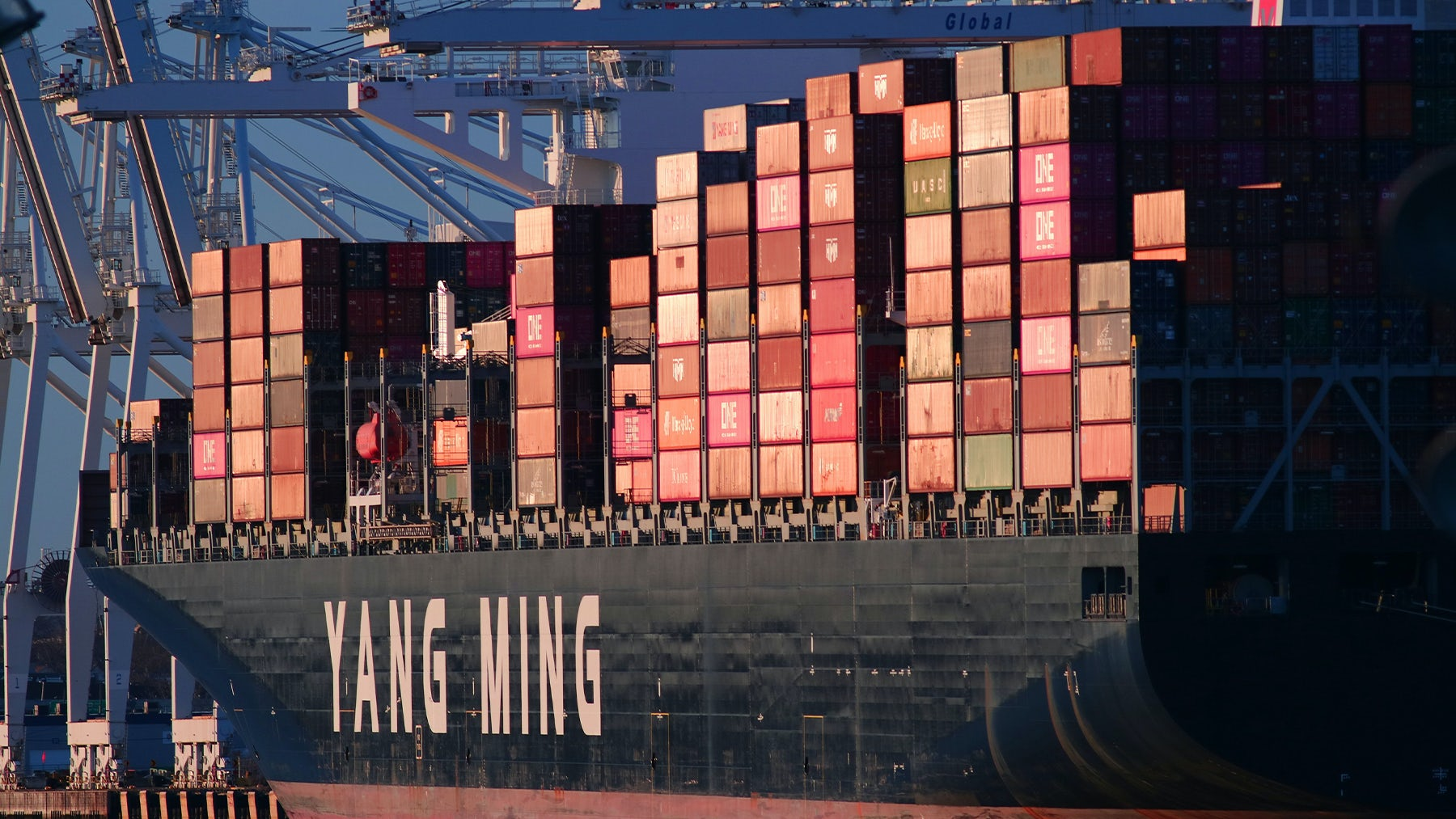 This port closure follows soon after another shut down in Shenzhen, both due to Covid-19 infections. Getty Images.
