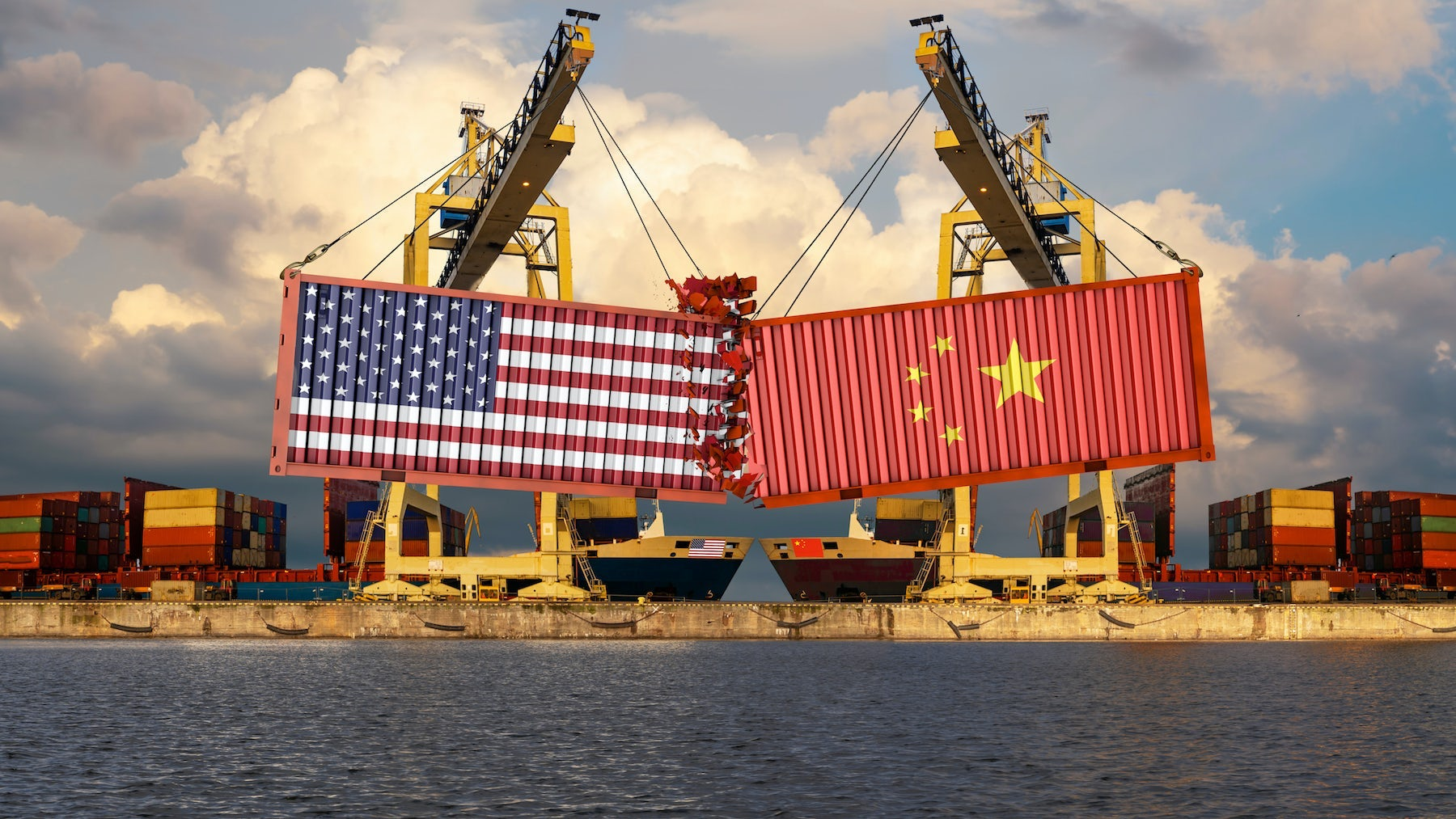 US-China trade war illustration. Shutterstock.