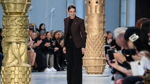 Designer Natacha Ramsay-Levi walks the runway after the Chloe show during Paris Fashion Week in February 2020. Getty Images.