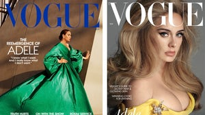 Adele covers American Vogue (left) and British Vogue (right). Alasdair Mclellan and Steven Meisel