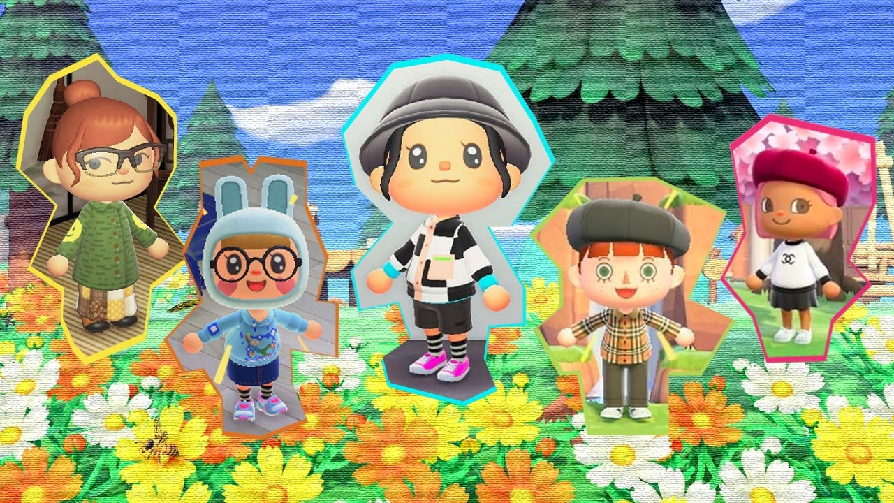 Fashion enthusiasts are creating custom clothes in Nintendo\'s Animal Crossing. | Collage by Zoe Suen for BoF