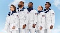 Olympians wear Ralph Lauren's Team USA apparel. Courtesy Ralph Lauren