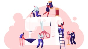 Multiple workers and jobs illustration concept. Shutterstock.