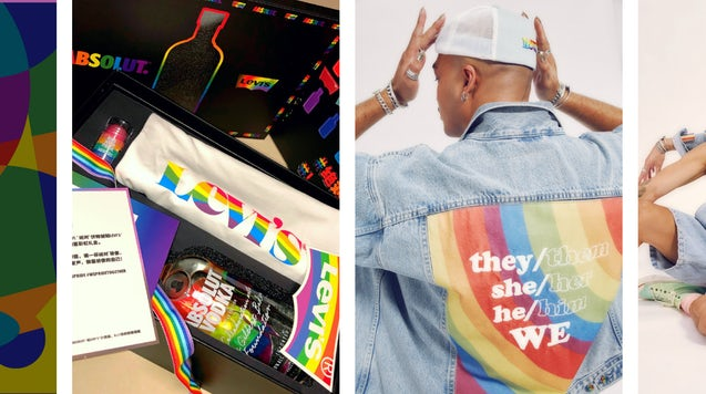 Imagery from Levi's Pride campaign in China. Levi's