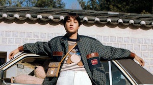 A look from the Kai x Gucci capsule collection. Gucci