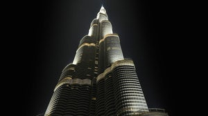 The Burj Khalifa, which houses the Armani Hotel Dubai. Armani