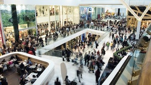 Crowds at a shopping mall. Shutterstock.