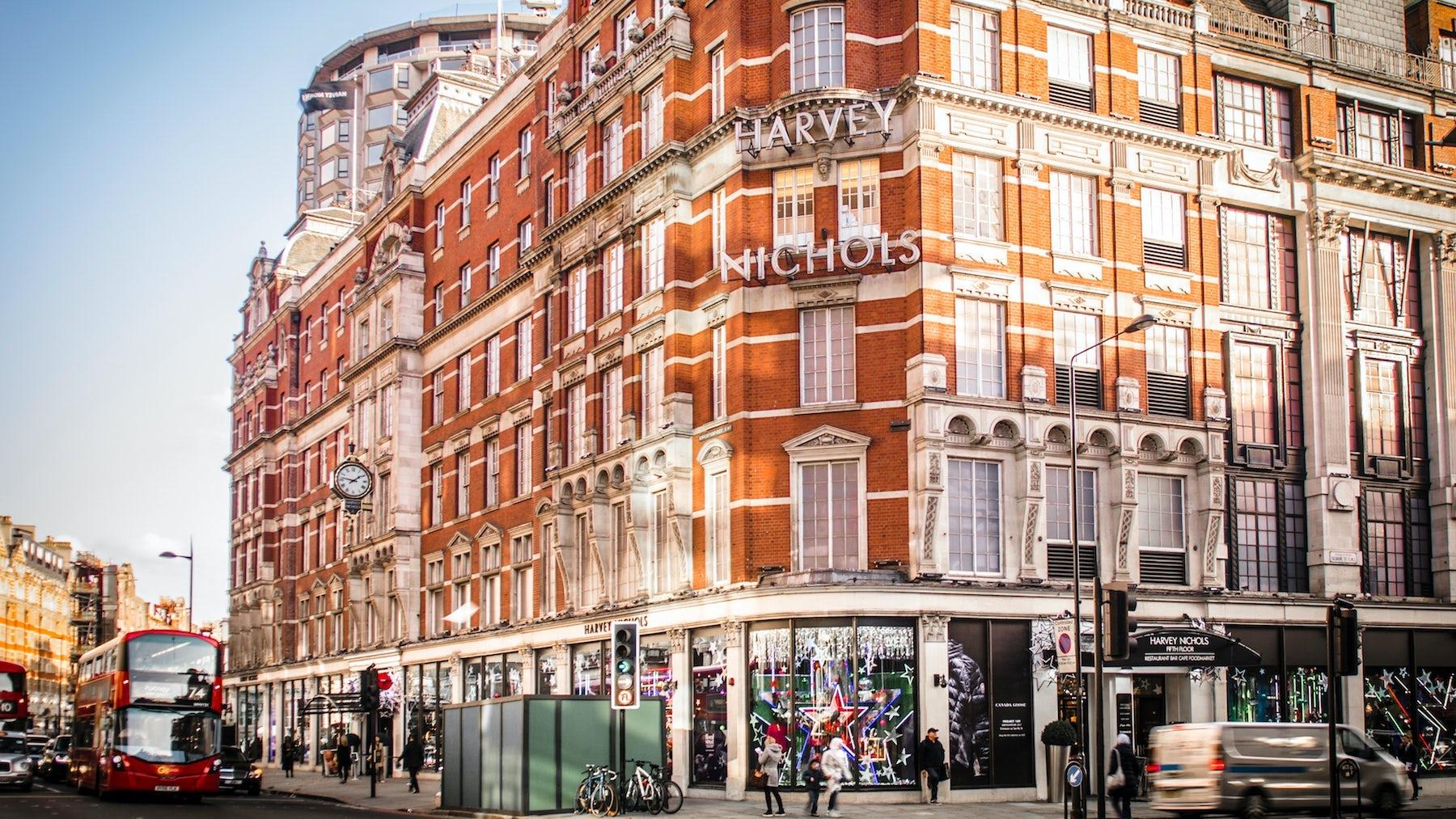 Harvey Nichols\' flagship store in Knightsbridge. Shutterstock.
