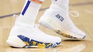NBA player, Klay Thompson, wears Anta sneakers. Anta