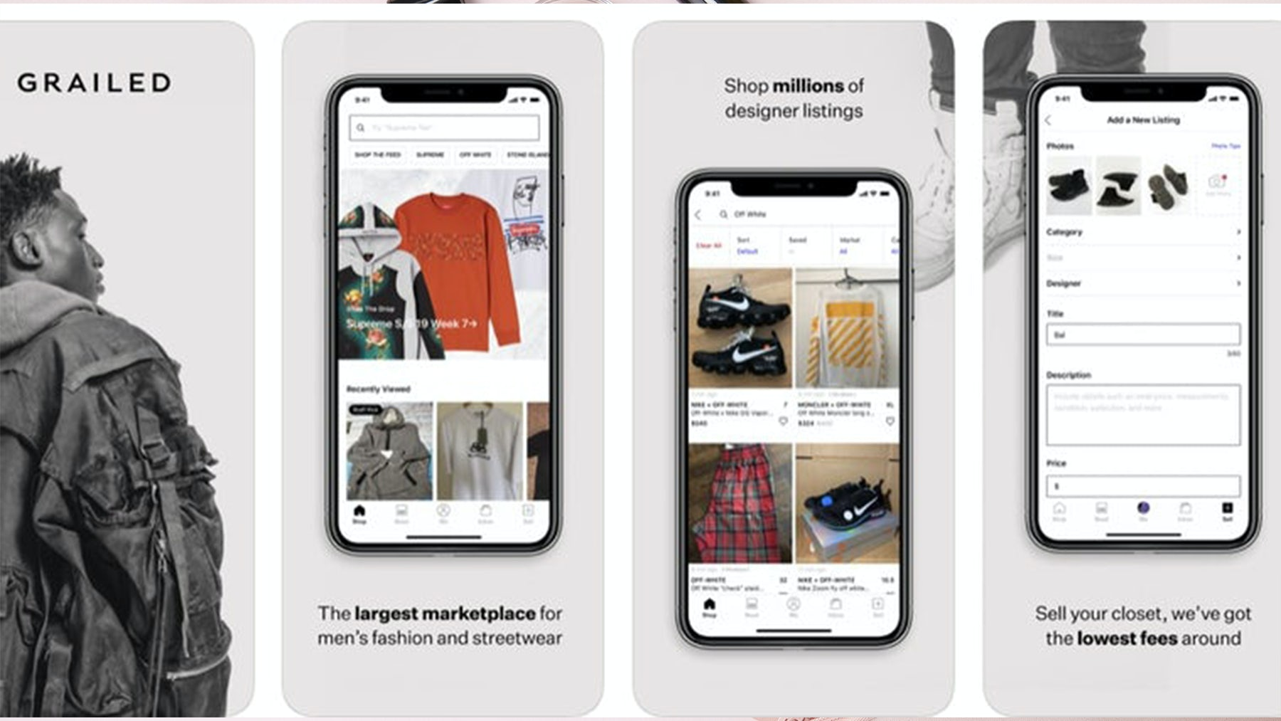 Founded in 2013, Grailed has become an online destination for menswear. Grailed.