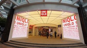 A Uniqlo store in Shanghai. Shutterstock.