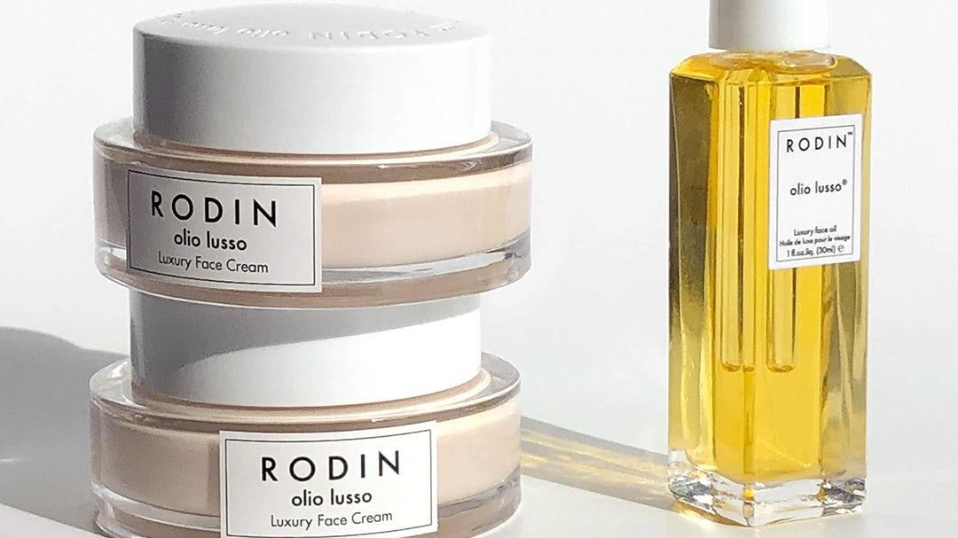 Rodin Olio Lusso cream and face oil. Rodin Olio Lusso.