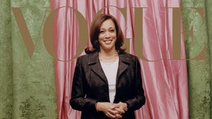 U.S. Vice President-elect Kamala Harris poses for Vogue in Converse sneakers. Tyler Mitchell for Vogue.