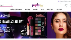 A screenshot from Purplle's home page. Purplle
