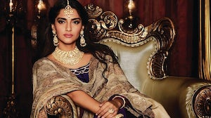 Sonam Kapoor in a campaign image for Kalyan Jewellers. Kalyan Jewellers