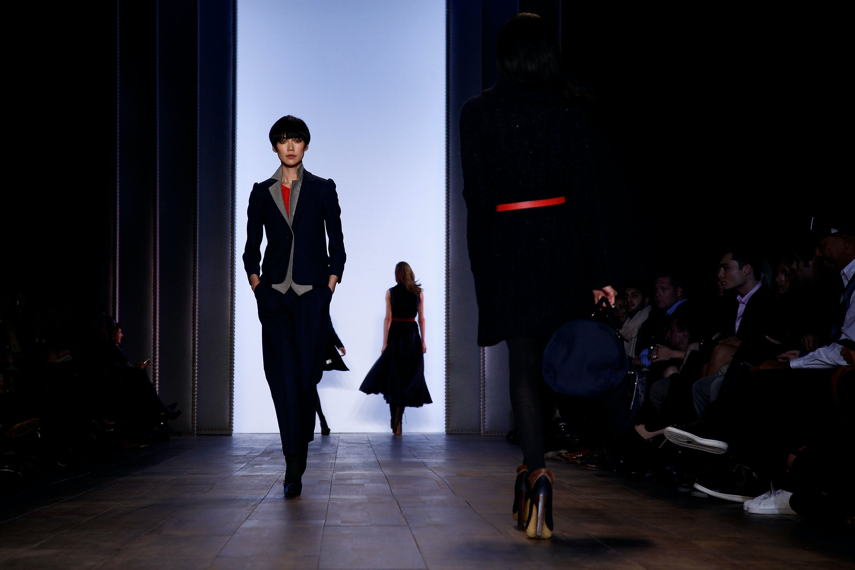 A model walks for Tommy Hilfiger during the last season at Bryant Park in 2010 | Source: Brian Ach/Getty Images for IMG