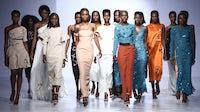 Tsemaye Binitie at Lagos Fashion Week. Kola Oshalusi for Lagos Fashion Week.