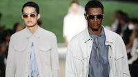 Models walk the runway during the Armani's show at Milan Men's Fashion Week Spring/Summer 2021/22 on June 21, 2021. Getty Images.