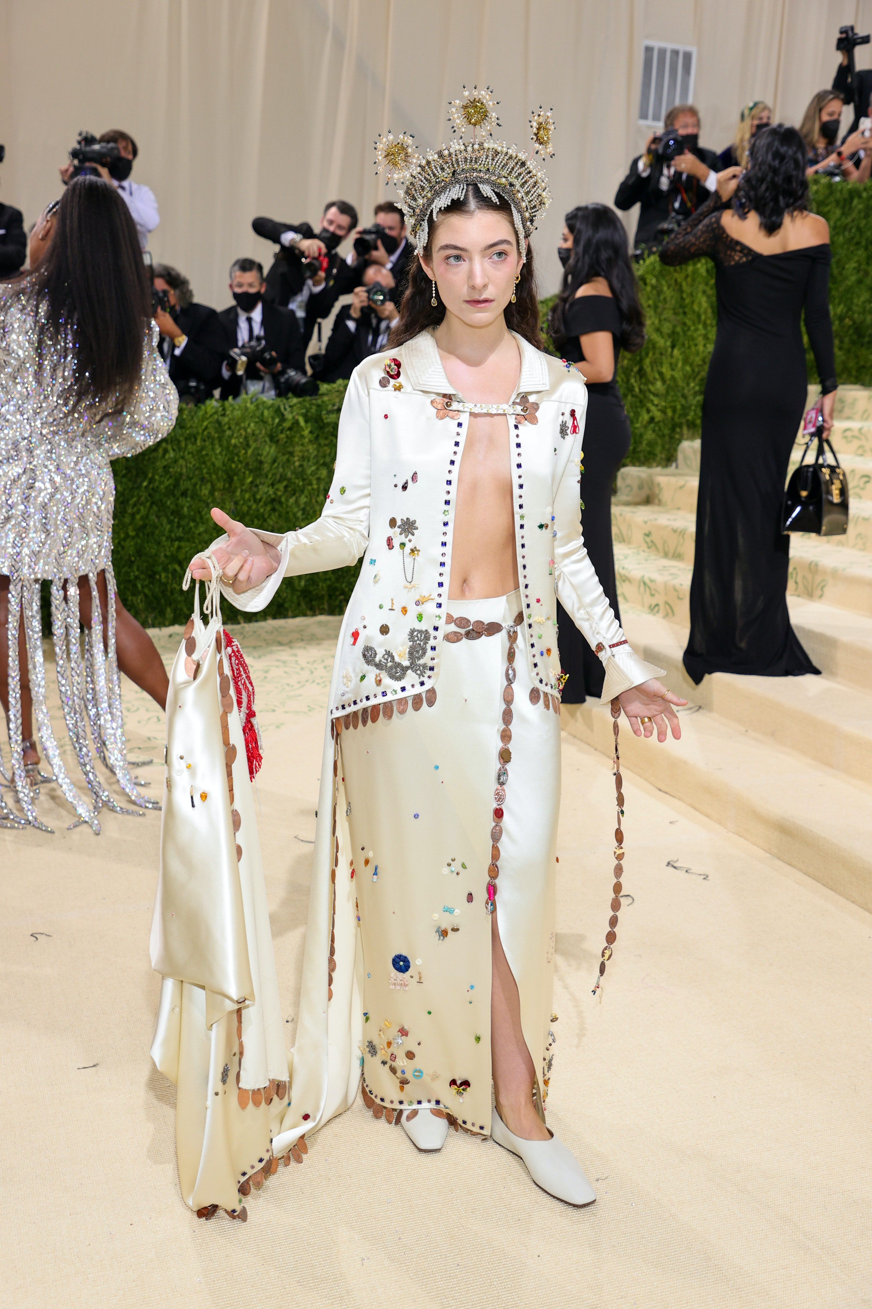 Lorde in Bode at 2021 Met Gala. Theo Wargo/Getty Images