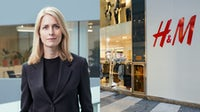 Helena Helmersson, chief executive, H&M Group; an H&M store in Milan, Italy. H&M Group; Shutterstock.