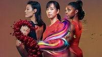 "Chinese swimmer Liu Xiang, Japanese table tennis player Kasumi Ishikawa and American gymnast Simone Biles star in SK-II's ""VS"" anthology series. SK-II."