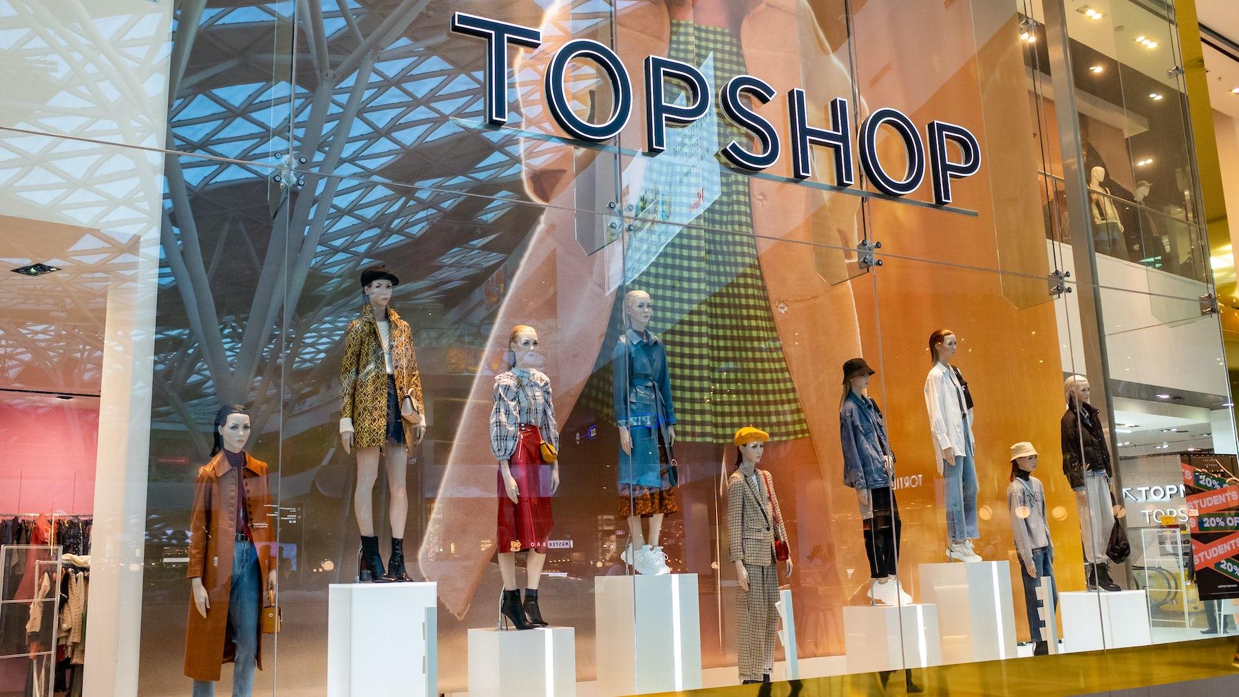 A Topshop store. Source: Shutterstock.