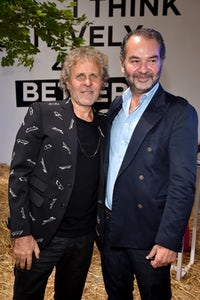 Renzo Rosso and Remo Ruffini attend Renzo Rosso and OTB Launch of 'Radical Renaissance 55+5.' Getty Images.