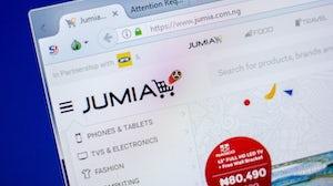 Jumia's e-commerce site. Shutterstock