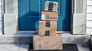 Amazon delivery boxes. Shutterstock.