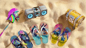 Some of the virtual Havaianas that will be available on Fortnite. Havaianas